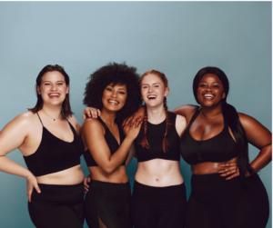 diverse women celebrating their bodies